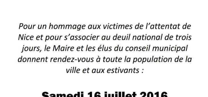 Hommage aux victimes de l'attentat de Nice